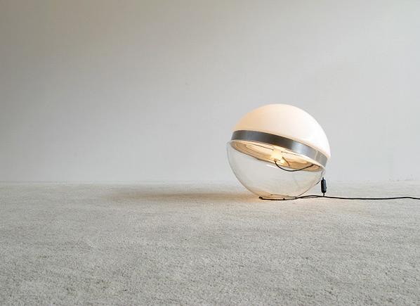 Glass ball floor lamp