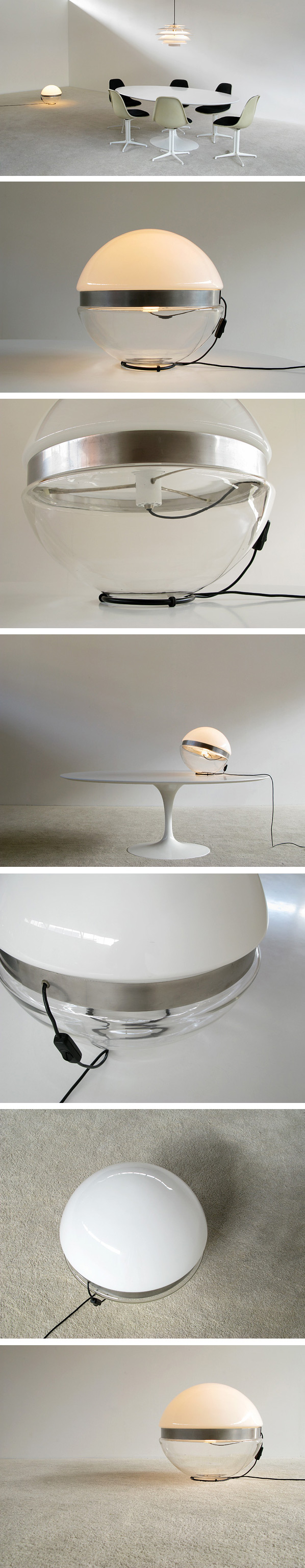 Glass ball floor lamp Large