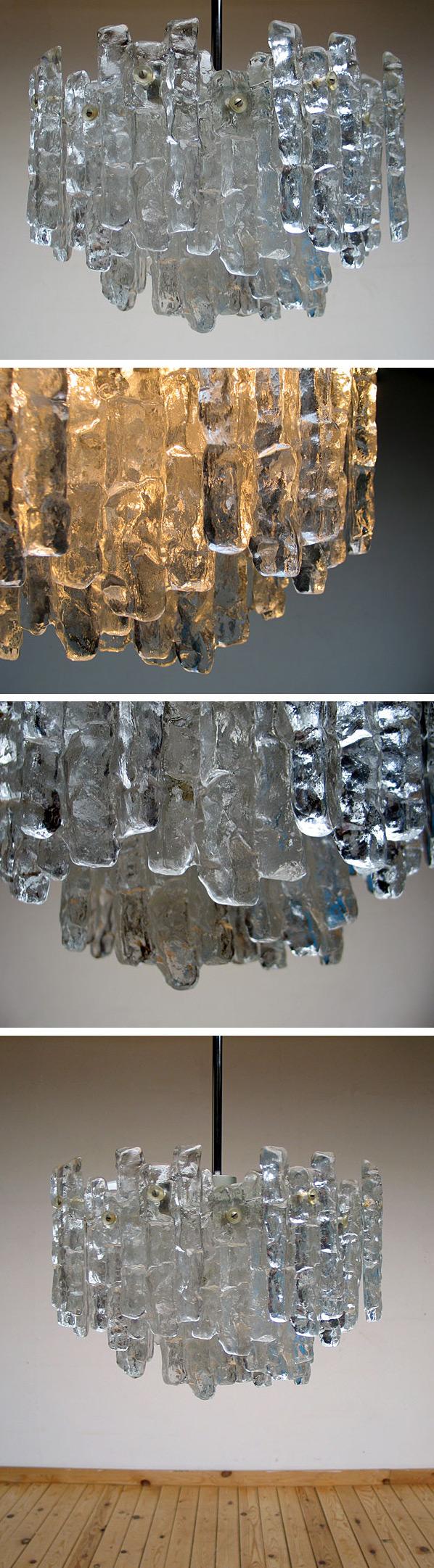 Glass chandelier Kalmar Austria Large