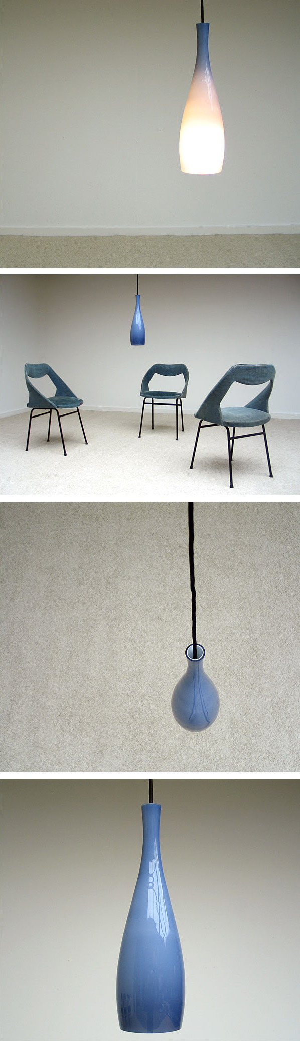 Glass pendant lampshade Bang Kastrup Fog & Morup Large