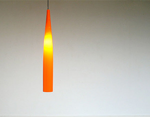 Glass Vistosi Pipe ceiling lamp eames era Murano Venni 1970