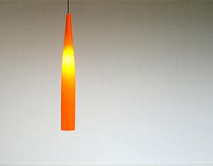 Glass Vistosi Pipe ceiling lamp eames era Murano Venni 1970