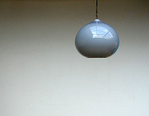 Grey onion ceiling lamp Vistosi Italy 1970