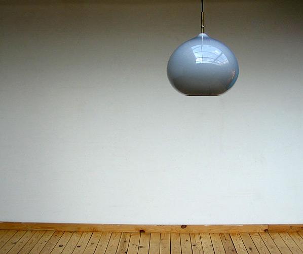 Grey onion ceiling lamp Vistosi Italy 1970