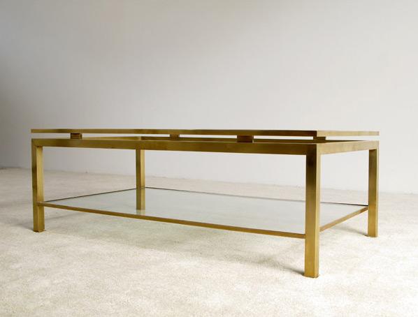 Guy Lefevre brass coffee table Maison Jansen