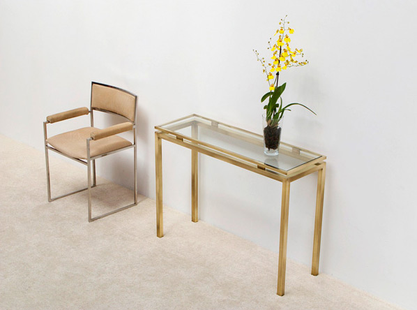 Guy Lefevre brass console table Maison Jansen