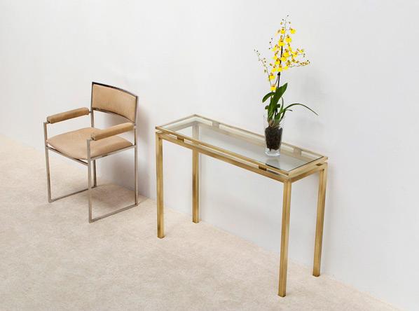 Guy Lefevre brass console table Maison Jansen