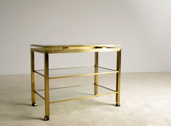 Guy Lefevre brass Trolly bar Maison Jansen