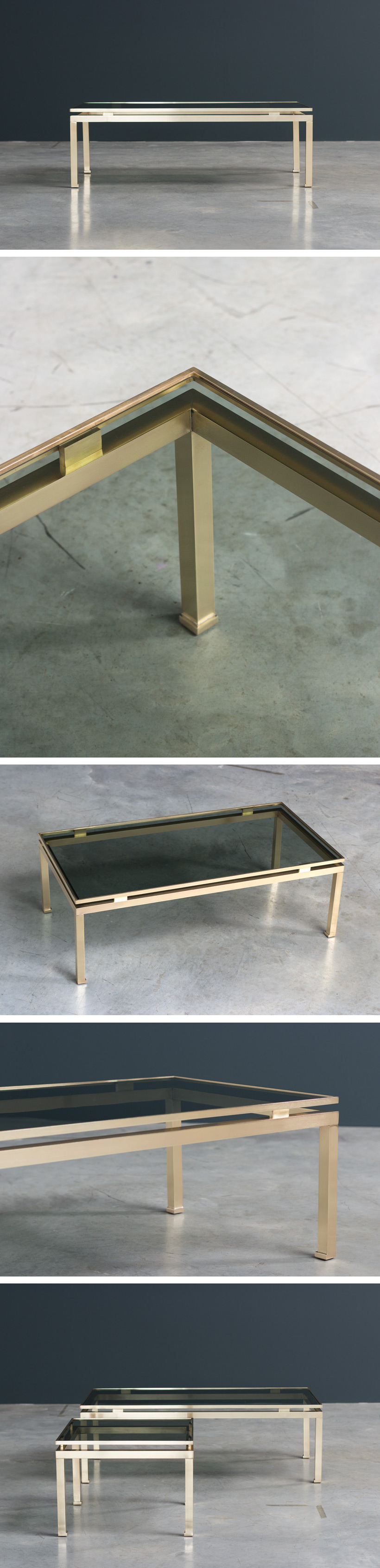 Guy Lefevre coffee table Maison Jansen 1970 Large