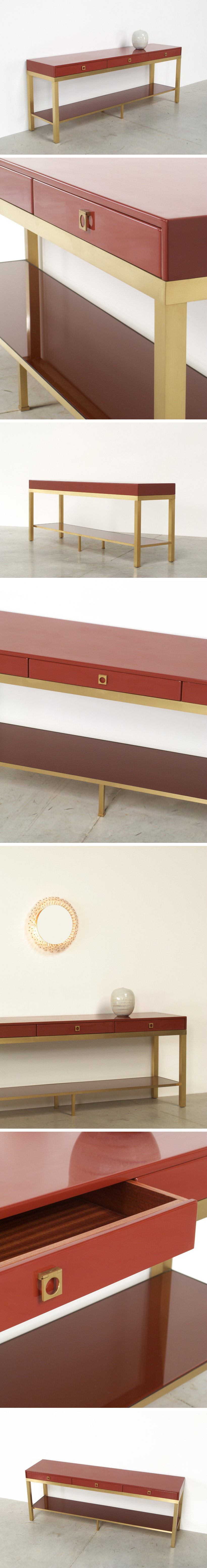 Guy Lefevre lacquered wooden Console Large