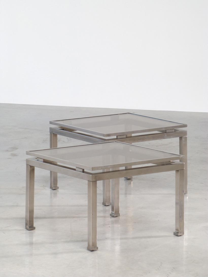 Guy Lefevre pair of side tables Maison Jansen 1970