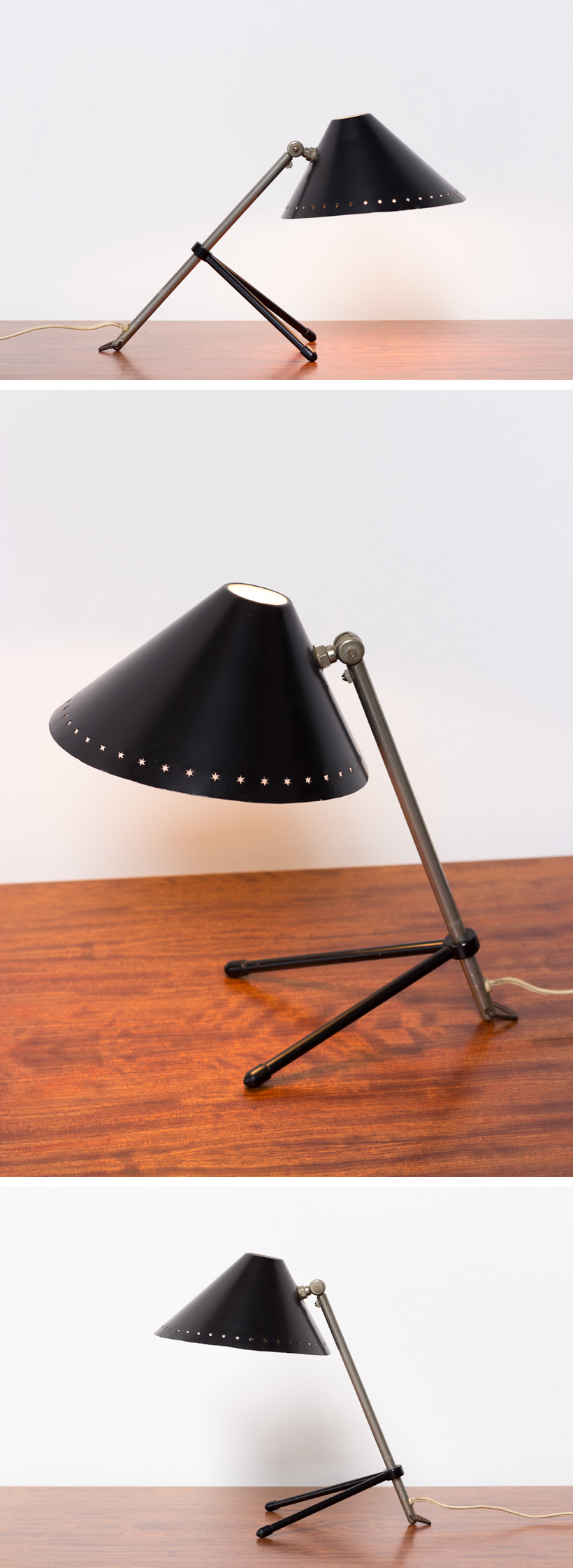 H Busquet black Pinocchio lamp Large