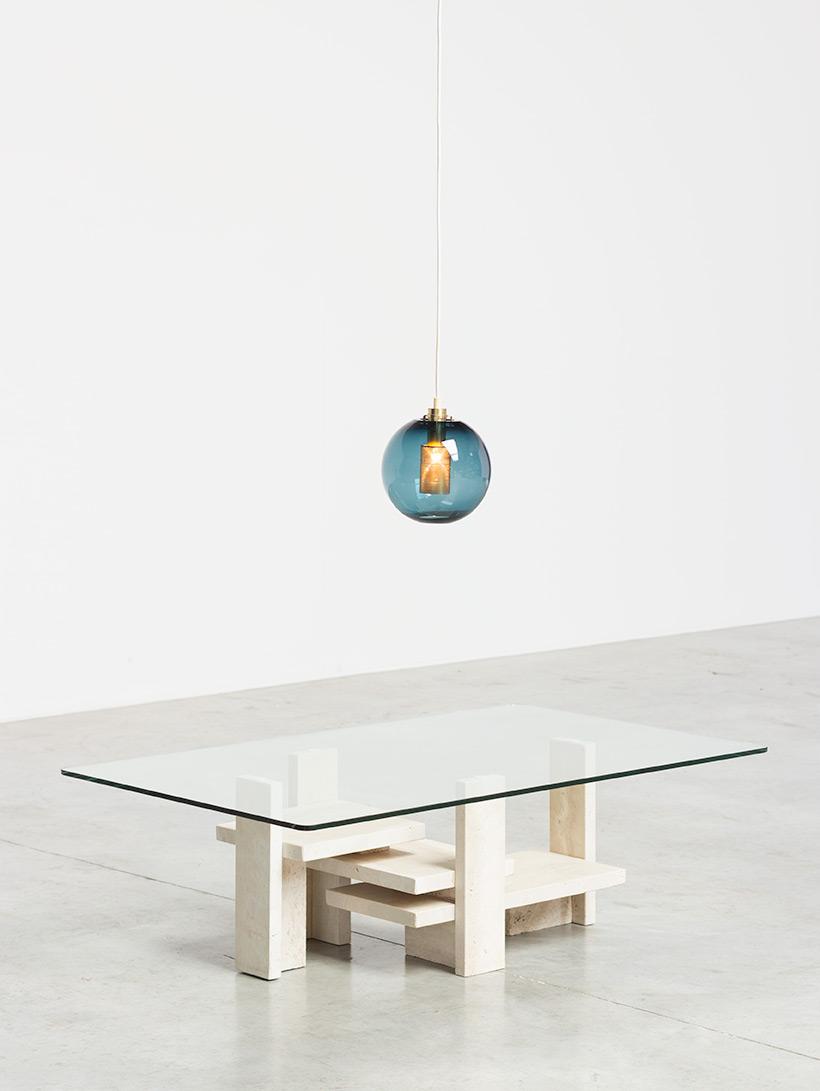 Hans Agne Jakobsson Bleu Glass Pendant AB Markaryd light