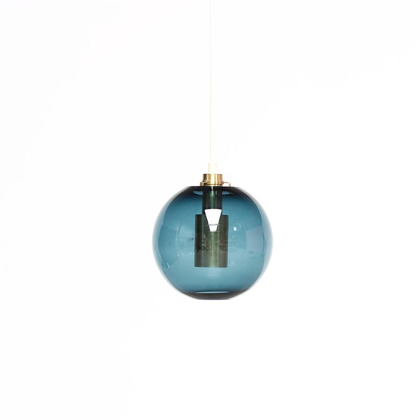 Hans Agne Jakobsson Bleu Glass Pendant AB Markaryd light img 3