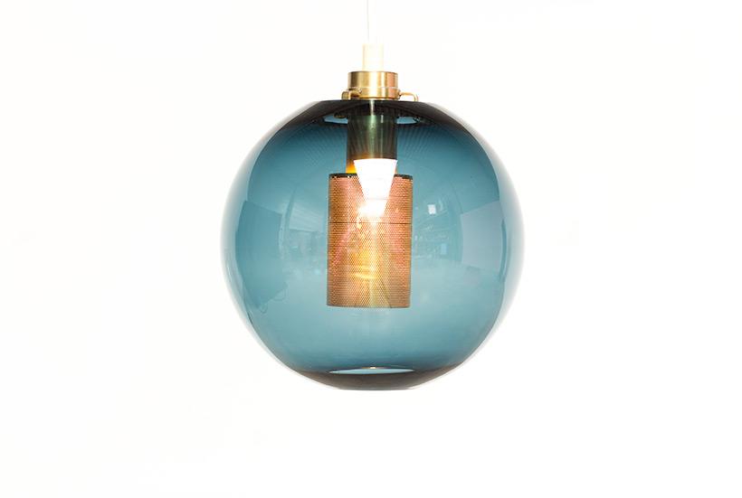 Hans Agne Jakobsson Bleu Glass Pendant AB Markaryd light img 4