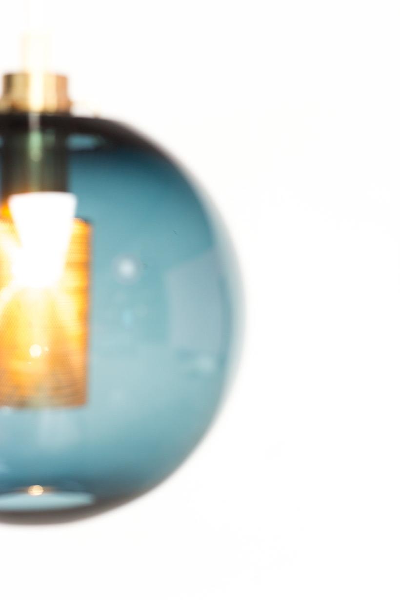 Hans Agne Jakobsson Bleu Glass Pendant AB Markaryd light img 6