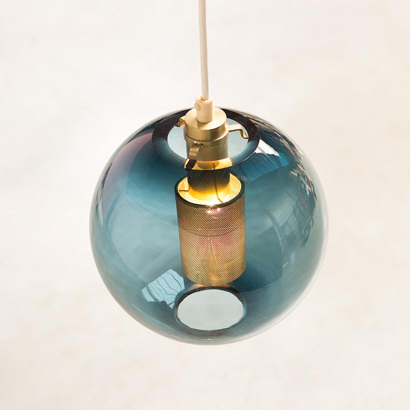 Hans Agne Jakobsson Bleu Glass Pendant AB Markaryd light img 7