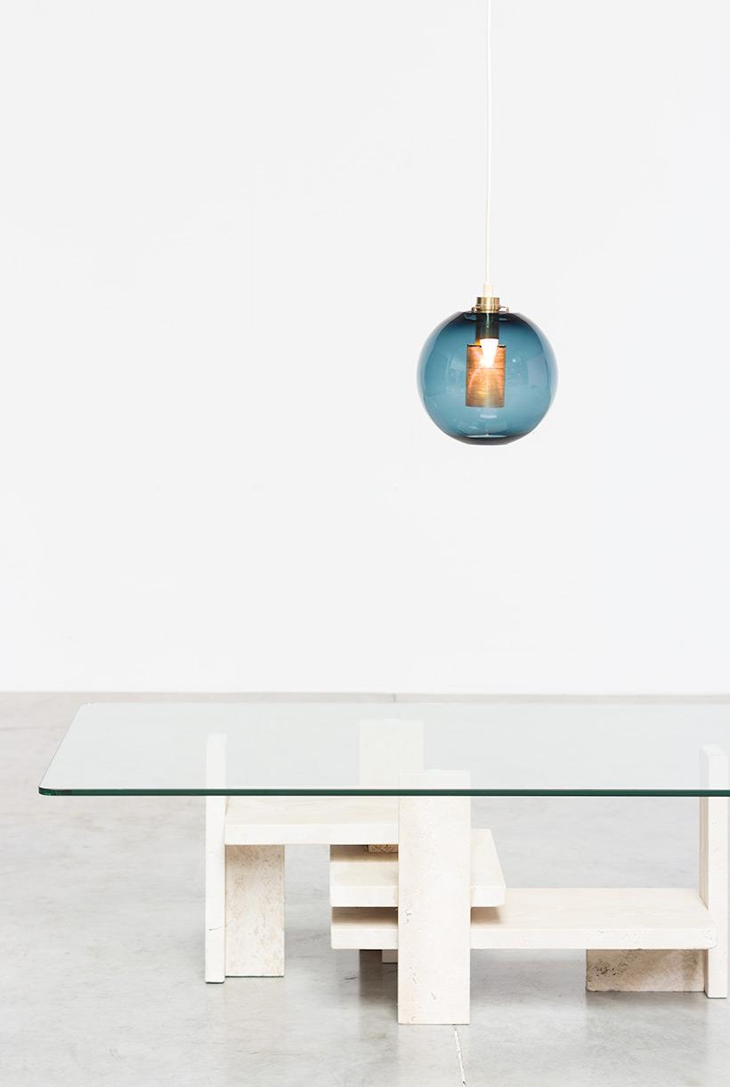 Hans Agne Jakobsson Bleu Glass Pendant AB Markaryd light img 8