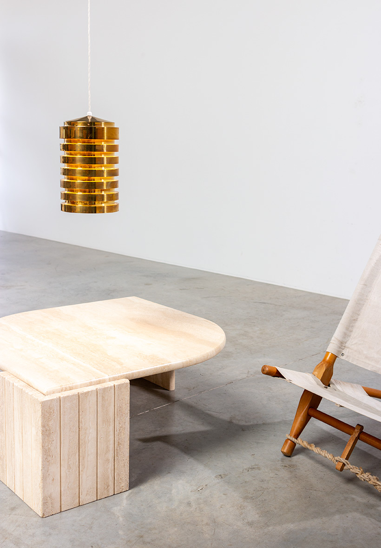 Hans Agne Jakobsson brass ceiling light T487 pendant by AB Markaryd