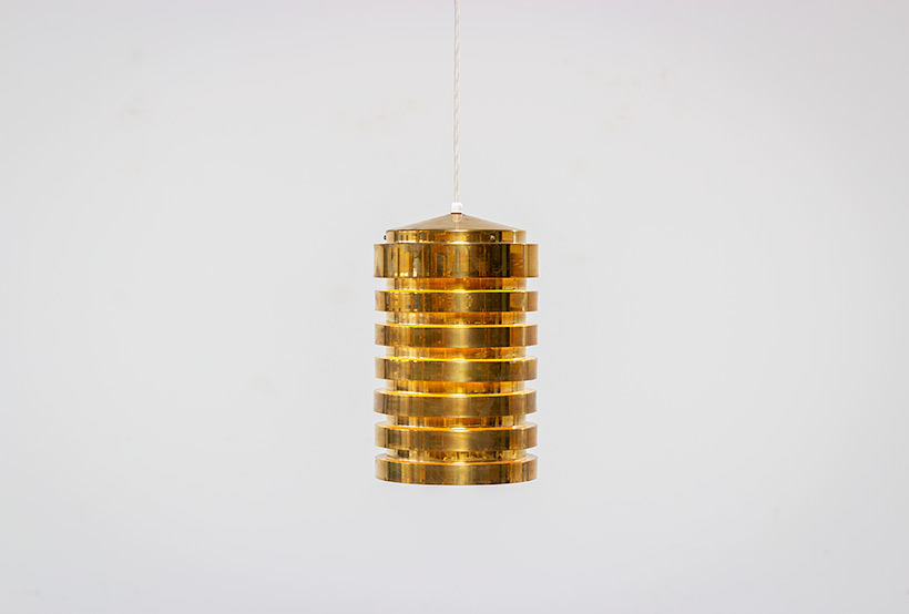 Hans Agne Jakobsson brass ceiling light T487 pendant by AB Markaryd img 3