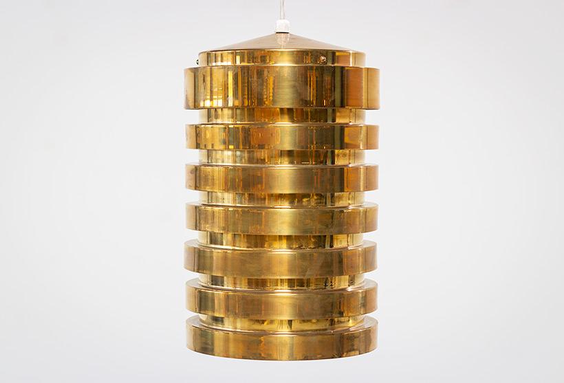 Hans Agne Jakobsson brass ceiling light T487 pendant by AB Markaryd img 4