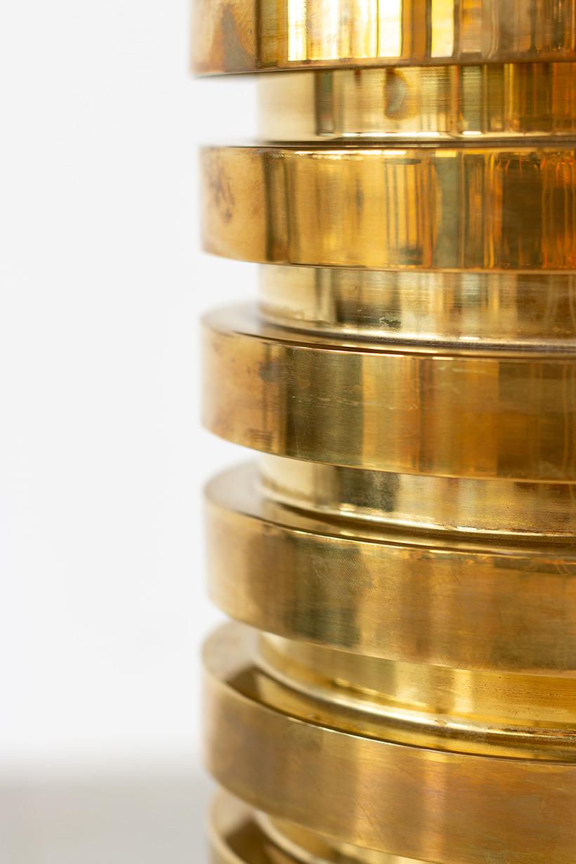 Hans Agne Jakobsson brass ceiling light T487 pendant by AB Markaryd img 6