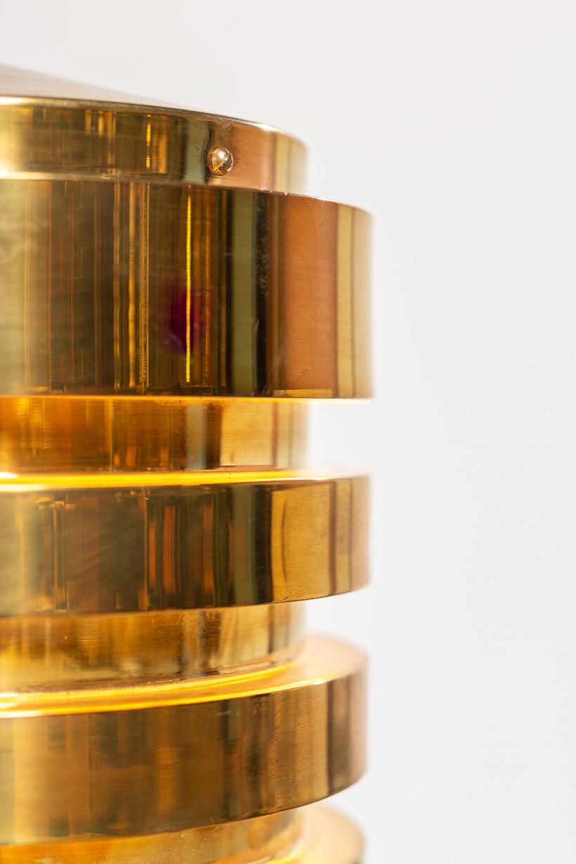 Hans Agne Jakobsson brass ceiling light T487 pendant by AB Markaryd img 7