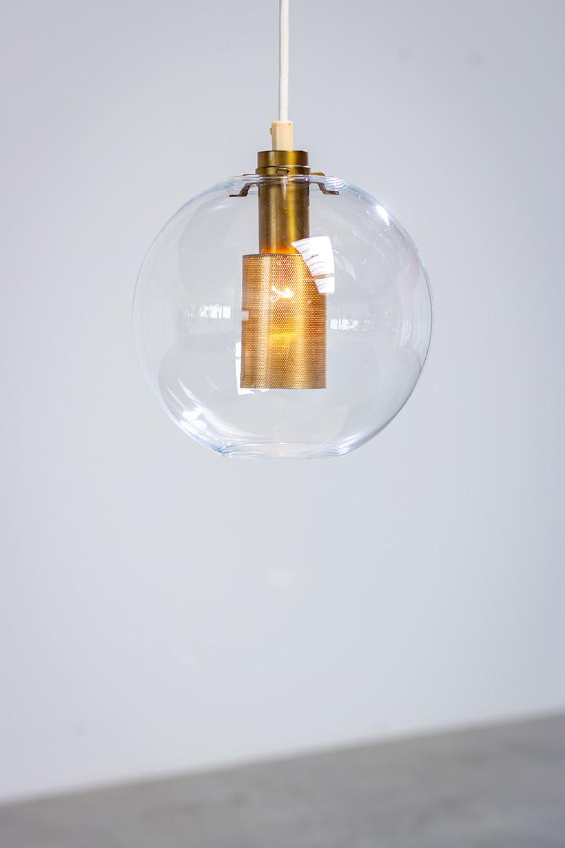 Hans Agne Jakobsson ceiling light T 269 clear glass pendants AB Markaryd