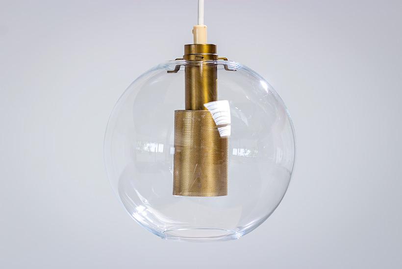Hans Agne Jakobsson ceiling light T 269 clear glass pendants AB Markaryd img 6
