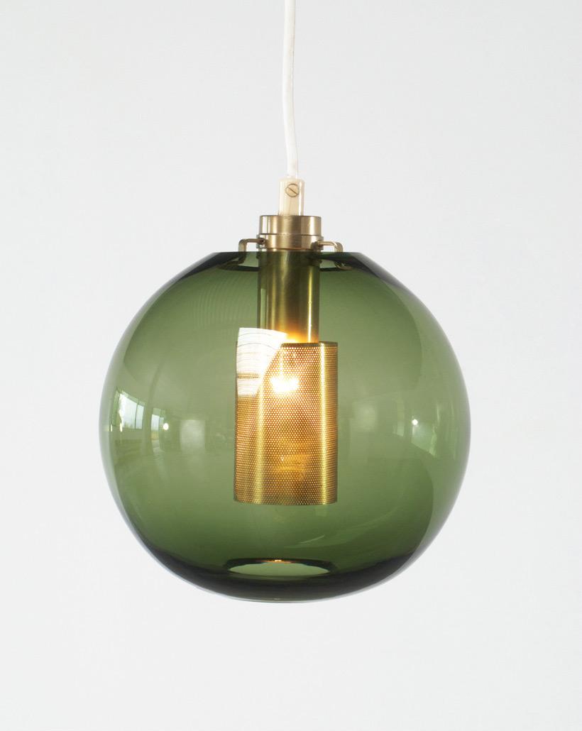 Hans Agne Jakobsson Green Glass Pendants AB Markaryd