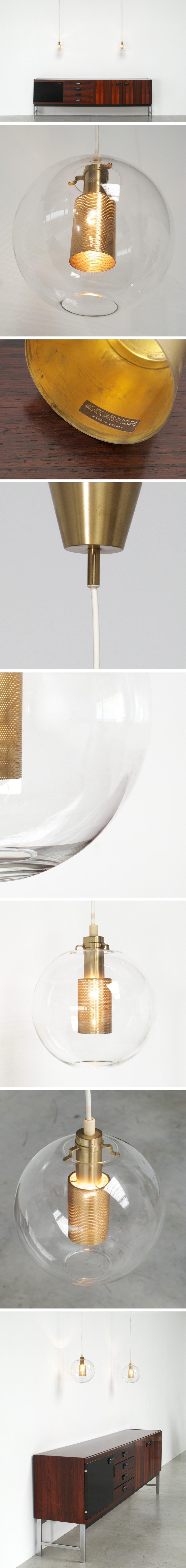 Hans Agne Jakobsson set of Glass Pendants AB Markaryd Large