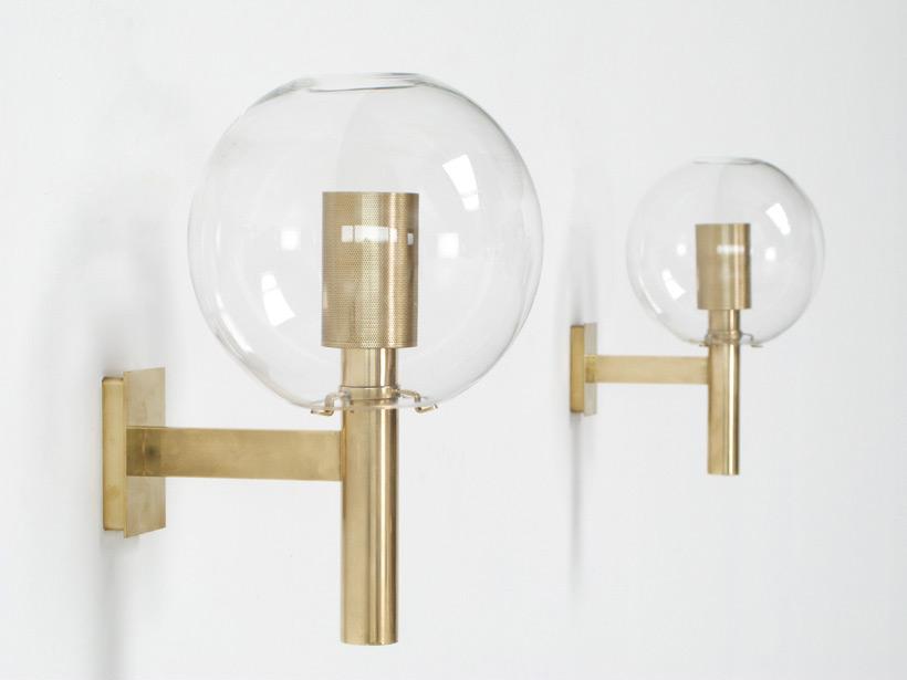 Hans Agne Jakobsson set of Glass Sconces AB Markaryd