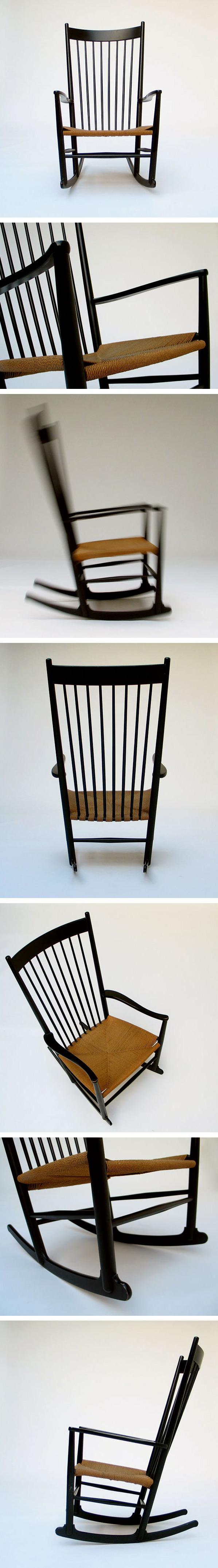 Hans J. Wegner Rocking Chair J16 FDB Mobler Large