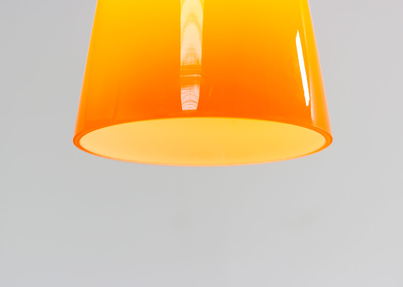 Holmegaard glass cone shaped pendant light 1960 img 8