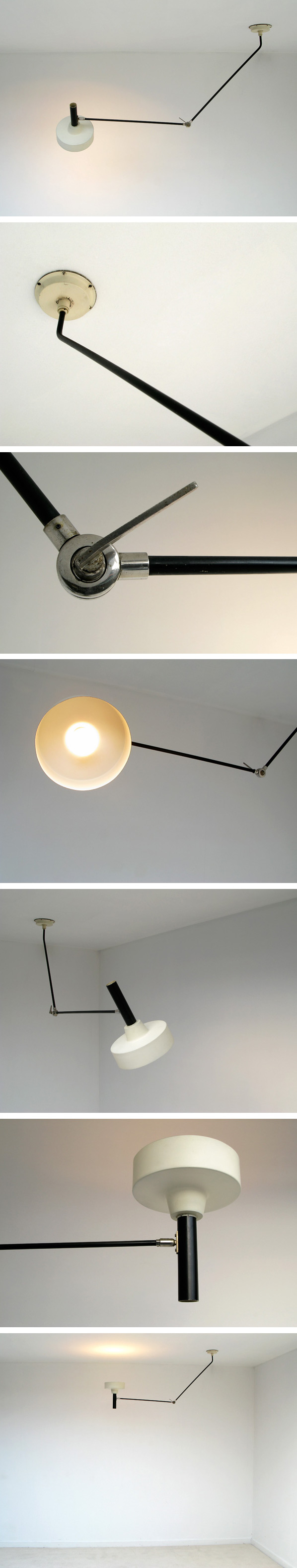 Hoogevorst Anvia industrial ceiling swing lamp Large
