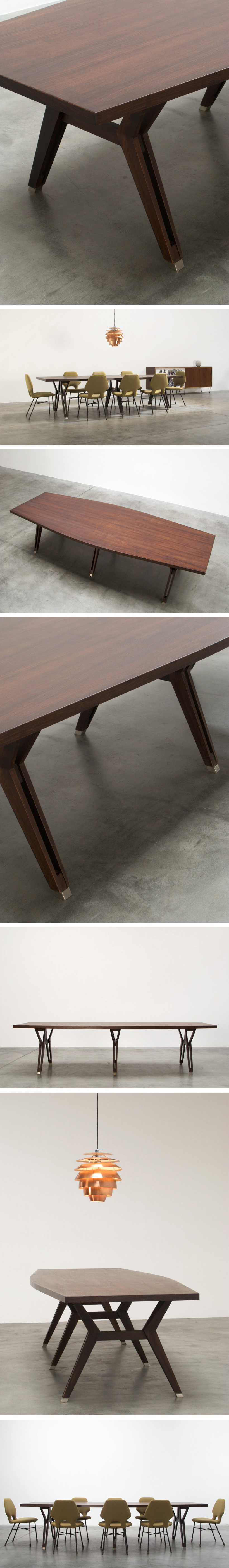 Ico Parisi MIM Terni Dinning Conference table Large
