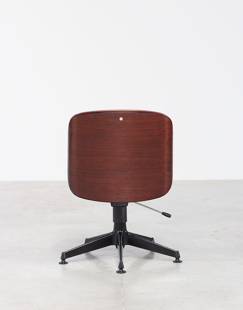 Ico Parisi Rosewood Desk chair for Mobili Italiani Moderni img 4