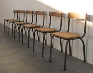 Industrial chairs Tubax dated 1957