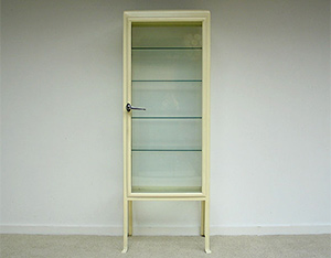 Industrial creme white Medical Surgery cupboard 1950