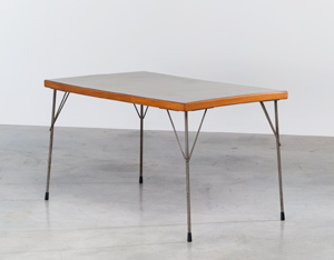 Industrial dinning table Wim Rietveld Gispen