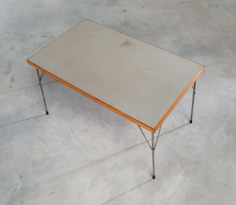 Industrial dinning table Wim Rietveld Gispen Large