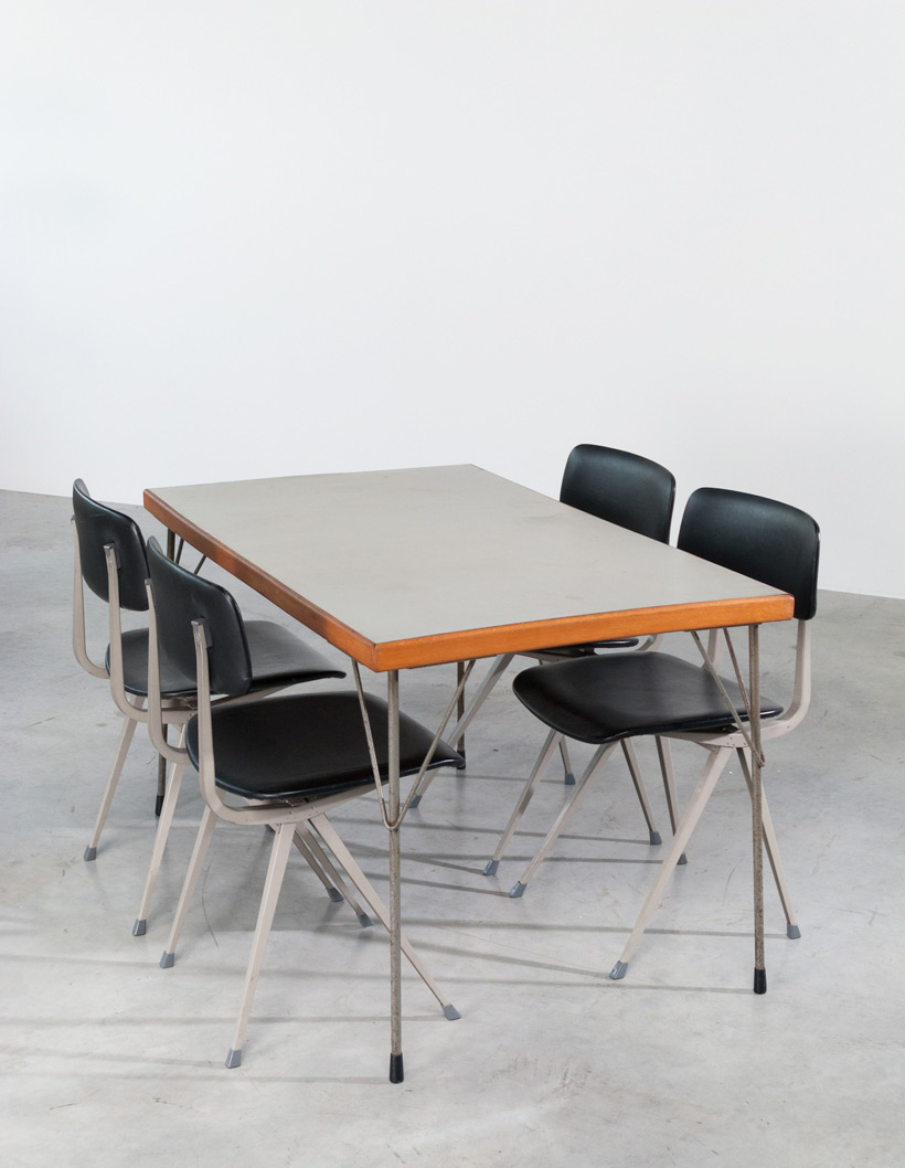 Industrial dinning table Wim Rietveld Gispen img 5