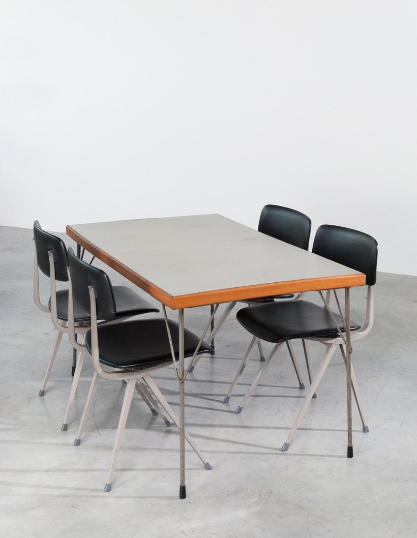 Industrial dinning table Wim Rietveld Gispen img 5