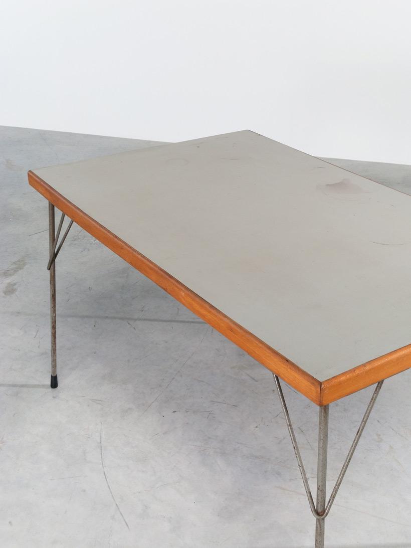 Industrial dinning table Wim Rietveld Gispen img 6