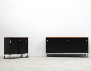 Industrial metal office sideboards