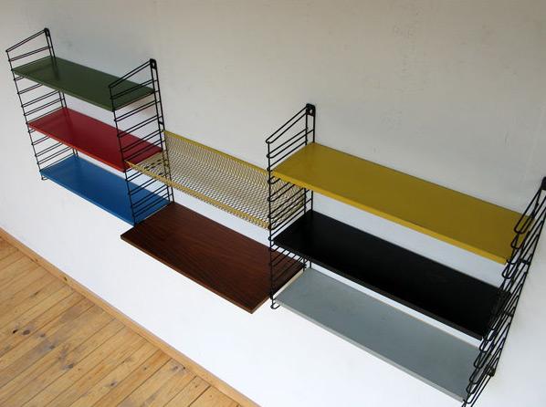 Industrial metal Wall Unit Tomado Pilastro Panton Eames 1950