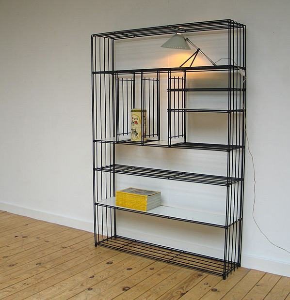 Industrial Pilastro metal wired wall unit 1950