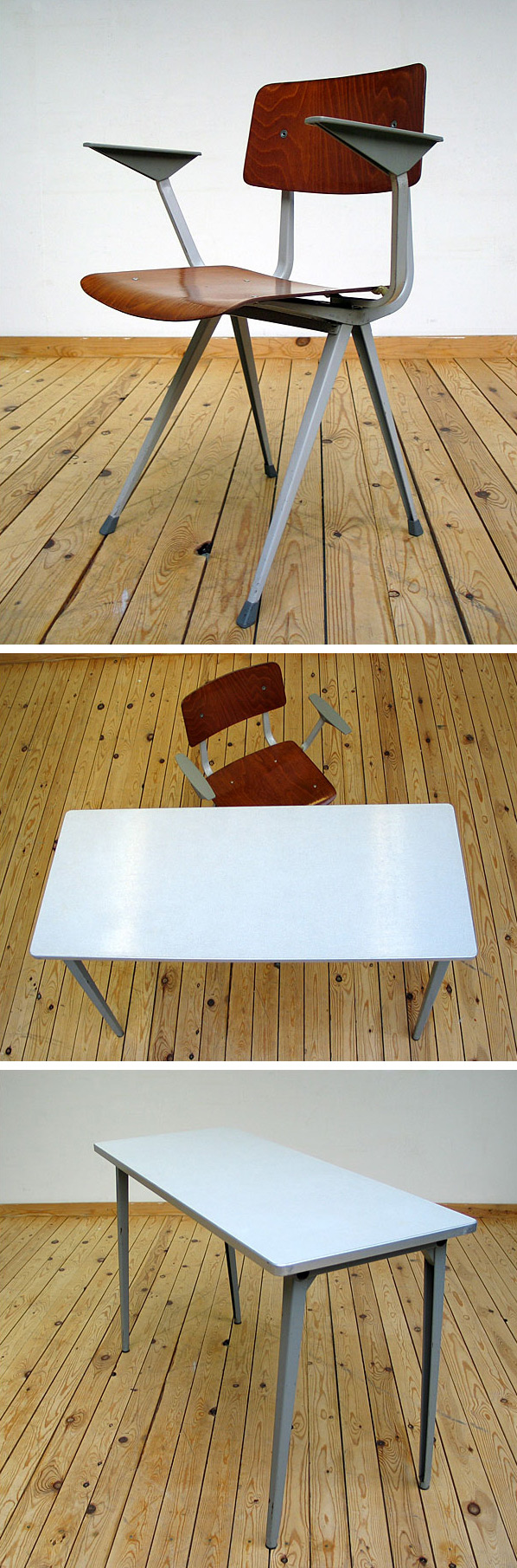 Industrial Result chair and side table Friso Kramer De Cirkel Large
