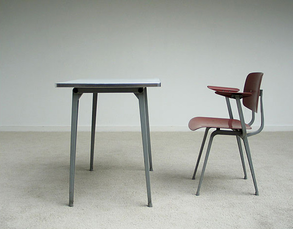Industrial Revolt chair and side table Friso Kramer De Cirkel