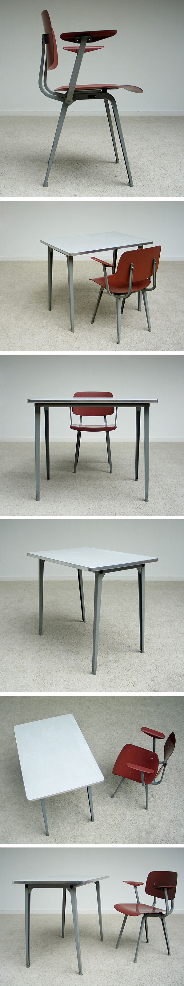 Industrial Revolt chair and side table Friso Kramer De Cirkel Large